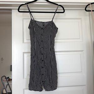 Gingham button down mini dress